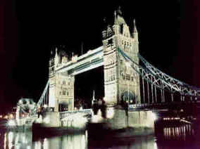 Floodlit Tower Bridge